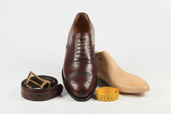 Custom made shoes. Shoes - high quality footwear made to your measures Royalty Free Stock Photography