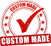 Custom made stamp icon. Illustration of custom made stamp icon on white background Stock Photos