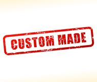 Custom made stamp. Illustration of custom made stamp on white background Royalty Free Stock Photo