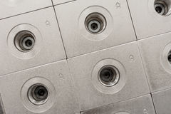 Custom Manifold Bodies. Hydraulic Custom Manifold Pattern with Clear Zinc Plating Stock Image