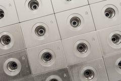 Custom Manifold Bodies. Hydraulic Custom Manifold Pattern with Clear Zinc Plating Royalty Free Stock Photo