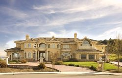 Custom Mansion In Hills Royalty Free Stock Photos