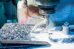 Custom milled machine part made Stock Image