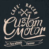 Custom motor typographic for t-shirt,tee design,poster,vector il. Lustration Stock Photos