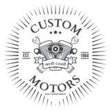 Custom motor vector t-shirt print design. Illustration Stock Images