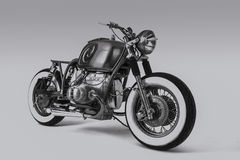 Custom motorbike. Custom BMW motorbike Rothchild shot in black and white stock images