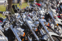 Custom motorbikes lane Royalty Free Stock Photography