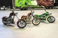 Custom motorbikes Stock Photo