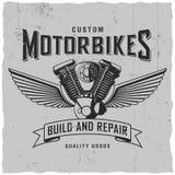 Custom Motorbikes Poster Stock Image