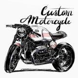 Custom motorcycle banner Stock Image