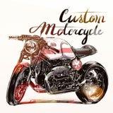 Custom motorcycle banner Stock Photos