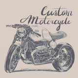 Custom motorcycle banner Stock Images