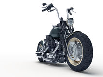 Custom motorcycle. Custom isolated motorcycle closeup on light background. 3D Illustration Royalty Free Stock Photography