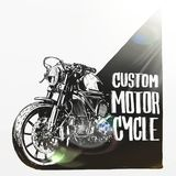 Custom motorcycle poster Royalty Free Stock Photography