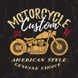 Custom Motorcycle Print. Stock Images