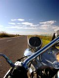 Custom Motorcycle and Road Royalty Free Stock Images