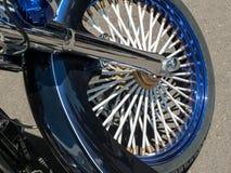 Custom motorcycle wheel. Beautiful state of the art motorcycle wheel Royalty Free Stock Photos