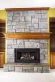 Custom Natural Gas Fireplace Royalty Free Stock Photos