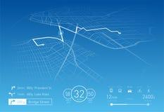 Custom Navigation system vector illustration Stock Images