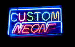 Custom neon sign Royalty Free Stock Images