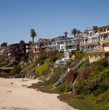 Orange County ocean front homes Royalty Free Stock Photography