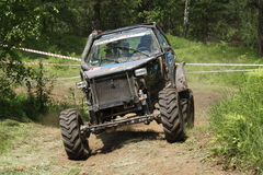 Custom offroad vehicle. Custom car on 4x4 offroad competition Stock Image