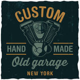 Custom Old Garage Poster Royalty Free Stock Photos