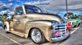 Custom painted American Chevy pickup truck Stock Photos