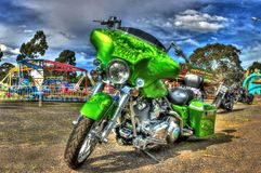 Custom painted American Harley Davidson motorcycle Royalty Free Stock Photo