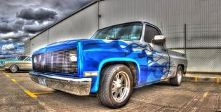 Custom painted American pick up truck Royalty Free Stock Photography