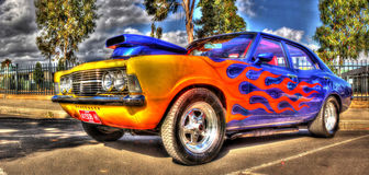 Custom painted Australian Holden Torana Stock Images