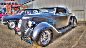 Custom painted black 1930s American Ford Stock Photography