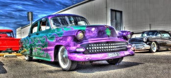 Custom painted Chevy hot rod Royalty Free Stock Images