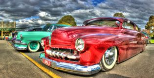 Custom painted and designed 1950s American Ford Stock Image