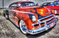 Custom painted 2 door Chevy Royalty Free Stock Photography