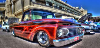 Custom painted Ford F100 pickup truck Stock Photo