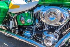Custom painted Harley Davidson Softail stock images