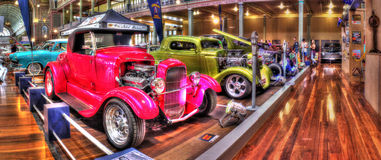 Custom painted hot rods. On display at car show at the Royal Exhibition Building in Melbourne Australia Stock Image