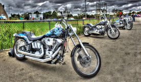 Custom painted Motorbikes Stock Image