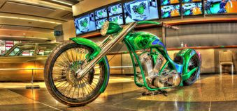 Custom painted motorcycle Stock Images
