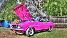 Custom painted 1970s Holden Torana Stock Images