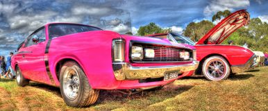 Custom painted 1970s American Dodge Stock Images