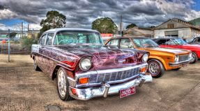 Custom painted 1950s Chevy Royalty Free Stock Image