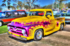 Custom Painted V8 pick up truck Stock Images