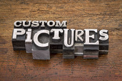 Custom pictures  in metal type Stock Images