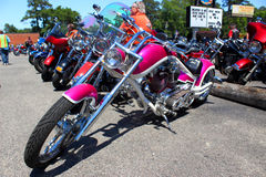 Custom Pink Harley Davidson Stock Photo