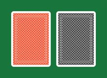 Playing Card Back, red and black. Custom playing card back with many uses in games and illustrations stock illustration