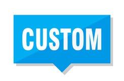 Custom price tag. Custom blue square price tag Royalty Free Stock Photography