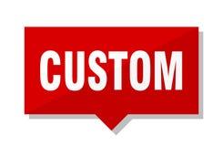 Custom price tag. Custom red square price tag Stock Image
