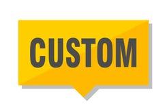 Custom price tag. Custom yellow square price tag Royalty Free Stock Photos